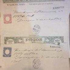 Documentos bancarios: PAGOS AL ESTADO, ZARAGOZA 1901. Lote 156495834