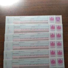 Documentos bancarios: 12 LETRAS DE CAMBIO EN BLANCO. Lote 156966536