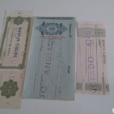Documentos bancarios: LOTE 3 CHEQUES. Lote 157420114