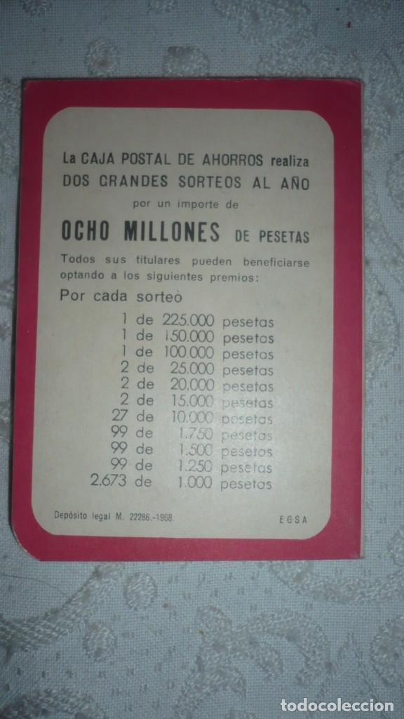 Documentos bancarios: Almanaque Caja Postal De ahorros año 1969 - Foto 2 - 157687954