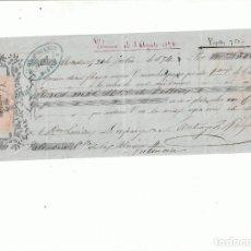 Documenti bancari: LETRA DE CAMBIO DE 1874, MADRID, 3000 REALES DE VELLÓN. Lote 157723754
