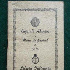 Documentos bancarios: CARTILLA CAJA DE AHORROS Y MONTE DE PIEDAD. Lote 158918714