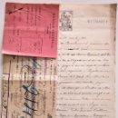Documentos bancarios: ESCRITURA Y LETRA DE CAMBIO MERMIN GINEBRA 1913 - BANCO FEDERAL AL BANCO ESPAÑOL DEL RIO DE LA PLATA. Lote 160219818