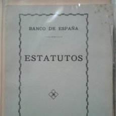 Documentos bancarios: BANCO DE ESPAÑA. ESTATUTOS. 1933. Lote 160884050