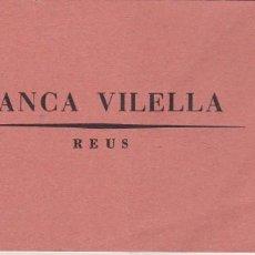 Documentos bancarios: TALONARIO BANCA VILELLA REUS 1967. Lote 161160318