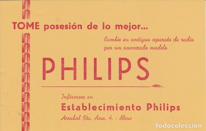 PHILIPOS ARRAVAL STA. ANA 4 REUS TARRAGONA (Coleccionismo - Documentos - Documentos Bancarios)