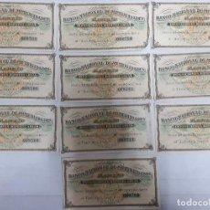 Documentos bancarios: 18186 - BANCO NACIONAL DE MUTUALIDADES - 10 CUPONES. Lote 163695750