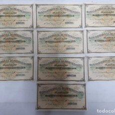 Documentos bancarios: 18187 - BANCO NACIONAL DE MUTUALIDADES - 10 CUPONES. Lote 163695790