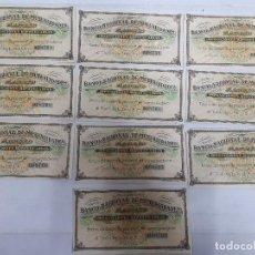 Documentos bancarios: 18191 - BANCO NACIONAL DE MUTUALIDADES - 10 CUPONES. Lote 163696530