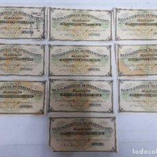 Documentos bancarios: 18193 - BANCO NACIONAL DE MUTUALIDADES - 10 CUPONES. Lote 163696846
