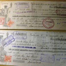 Documentos bancarios: 2 RECIBOS ALBARAN BANCO ANGLO SUD AMERICANO LDO 1923 LETRA DE CAMBIO . Lote 163772798