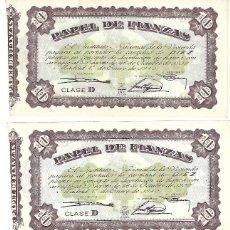 Documentos bancarios: C150-LOTE 3 PAPEL DE FINANZAS DEL INSTITUTO NACIONAL DE LA VIVIENDA DE 10 PTAS DEL 1 - ENERO - 1940. Lote 164746502