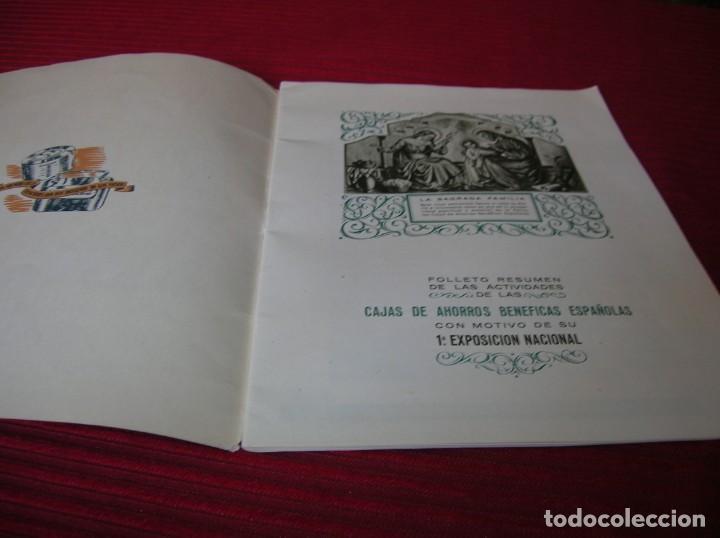 Documentos bancarios: Muy interesante folleto.Primera Exposición Nacional del Ahorro.Madrid,año 1951 - Foto 2 - 165670486
