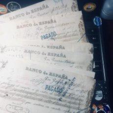 Documentos bancarios: LOTE DE 10 LETRAS DE BANCO ESPAÑA DIFERENTE DE 1890 A 1903 EN EBC. Lote 172189415