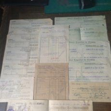 Documentos bancarios: LOTE DOCUMENTOS BANCO ESPAÑOL DE CRÉDITO SUCURSAL ALMERÍA 1940. Lote 169997280