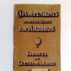 Documentos bancarios: LIBRETA CUENTA DE AHORRO,SUCURSAL DE CERVERA,AÑO 1925,CAJA DE PENSIONES PARA LA VEJEZ (DESCRIPCIÓN.). Lote 170484748