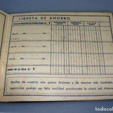 Documentos bancarios: CARTILLA DE LA CAJA DE PENSIONES PARA LA VEJEZ Y DE AHORRO - GERONA - 1948. Lote 154312330