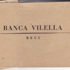 Documentos bancarios: TALONARIO BANCA VILELLA REUS SÓLO CON LAS MATRICES. Lote 171615178