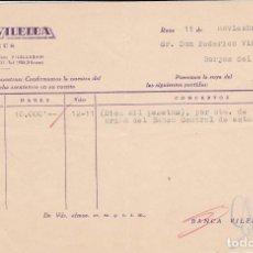 Documentos bancarios: BANCA VILELLA DE REUS 1958. Lote 171615292