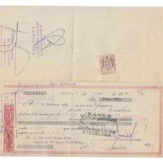 Documentos bancarios: LOTE 24 LETRAS CLASE 11 12 + TIMBRES 40 CTS. MOTO VESPA, 1960/62. BANCO HISPANO AMERICANO BARCELONA. Lote 173404417