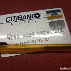 Documentos bancarios: CITIBANK TARJETA DE CREDITO VISA 1992.. Lote 173464055