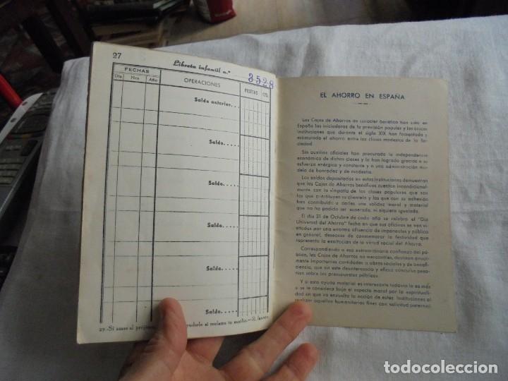 Documentos bancarios: CARTILLA CAJA DE AHORROS Y MONTE DE PIEDAD DE ZARAGOZA ARAGON Y RIOJA.LIBRETA DE AHORRO INFANTIL 195 - Foto 6 - 173977157