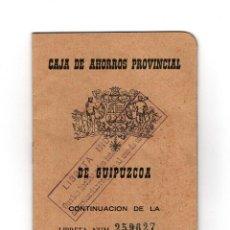 Documentos bancarios: CARTILLA BANCO CAJA AHORROS GUIPUZCOA 1965. Lote 174307347
