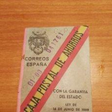 Documentos bancarios: CAJA POSTAL DE AHORROS. Lote 174358730