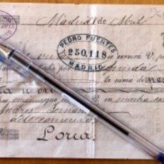 Documentos bancarios: LETRA DE CAMBIO- MADRID- LORCA- MURCIA- ANDRES FERNANDEZ 1.883. Lote 174587960
