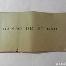 Documentos bancarios: TALONARIO DE CHEQUES BANCO DE BILBAO - AÑOS 60. . Lote 175232747