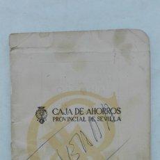 Documentos bancarios: LIBRETA DE LA CAJA DE AHORROS PROVINCIAL DE SEVILLA, 1969. Lote 176020367