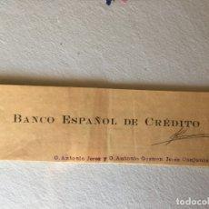 Documentos bancarios: BANCO ESPAÑOL DE CRÉDITO TALONARIO DE CHEQUES. Lote 187635198