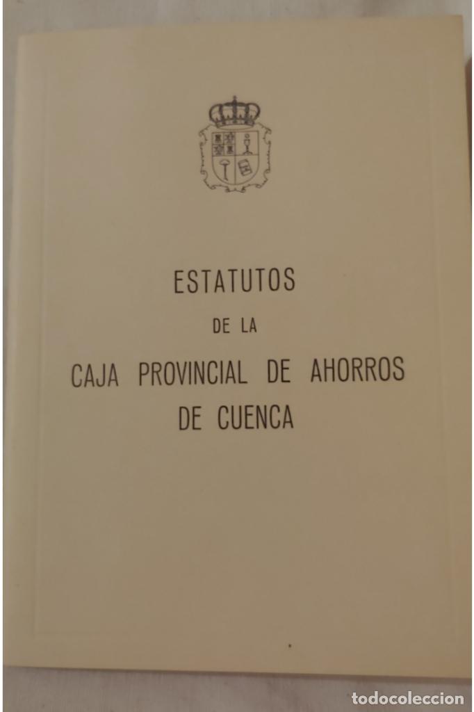 1978. ESTATUTOS CAJA PROVINCIAL DE AHORROS DE CUENCA (Coleccionismo - Documentos - Documentos Bancarios)