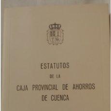Documentos bancarios: 1978. ESTATUTOS CAJA PROVINCIAL DE AHORROS DE CUENCA. Lote 177484799