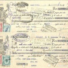 Documentos bancarios: C150- 3 LETRAS DE CAMBIO DE DICIEMBRE DE 1.935 -CAMPAMAJO Y COROMINAS A JOSE UJENA. Lote 177512107