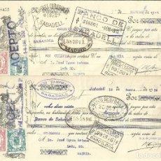 Documentos bancarios: C150- LOTE 4 LETRAS DE CAMBIO DE ENERO DE 1.936 - DE CAMPAMAJO Y COROMINAS A JOSE UJENA. Lote 177512620