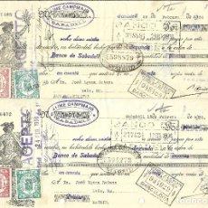 Documentos bancarios: C150- LOTE 2 LETRAS DE CAMBIO DE FEBRERO DE 1.936 - DE CAMPAMAJO Y COROMINAS A JOSE UJENA. Lote 177512878
