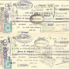 Documentos bancarios: C150- LOTE 4 LETRAS DE CAMBIO DE MARZO DE 1.936 - DE CAMPAMAJO Y COROMINAS A JOSE UJENA. Lote 177513187