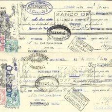 Documentos bancarios: C150- LOTE 4 LETRAS DE CAMBIO DE ABRIL DE 1.936 - DE CAMPAMAJO Y COROMINAS A JOSE UJENA. Lote 177513388