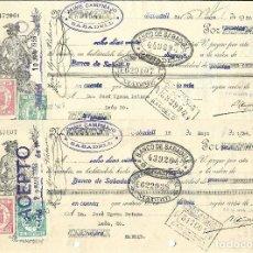 Documentos bancarios: C150- LOTE 4 LETRAS DE CAMBIO DE MAYO DE 1.936 - DE CAMPAMAJO Y COROMINAS A JOSE UJENA. Lote 177513615