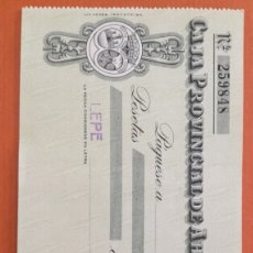 Documentos bancarios: CHEQUE AL PORTADOR. LEPE.. Lote 177563238