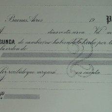 Documentos bancarios: ANTIGUO TALONARIO DE RECIBOS DE PAGARÉ. GRAN TAMAÑO. PARA COLECCIONISTAS!. Lote 177764184
