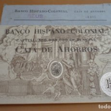 Documentos bancarios: LIBRETA DEL BANCO HISPANO-COLONIAL REUS. Lote 178192500