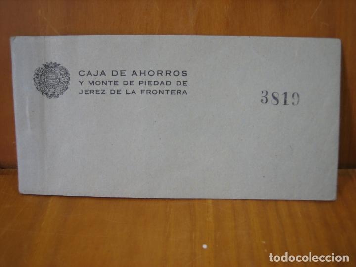 TALONARIO BANCARIO CAJA DE AHORROS DE JEREZ (Coleccionismo - Documentos - Documentos Bancarios)