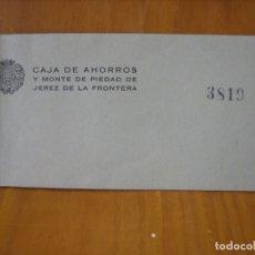 Documentos bancarios: TALONARIO BANCARIO CAJA DE AHORROS DE JEREZ. Lote 178202368