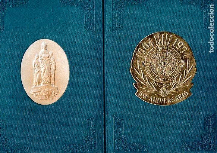 CARPETA CONMEMORATIVA 50 ANIVERSARIO CAJA DE PENSIONES 1954 (Coleccionismo - Documentos - Documentos Bancarios)