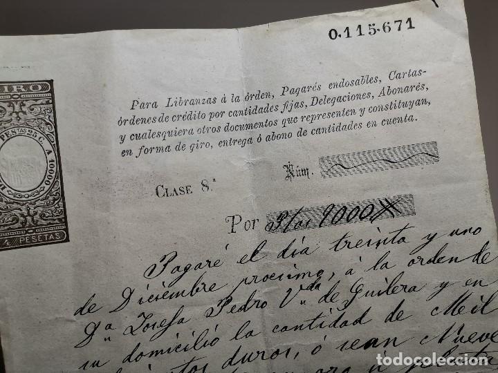 Documentos bancarios: PAGARE ENDOSABLE BARCELONA 1891 MANUSCRITO--9000 PTAS - Foto 3 - 178858018