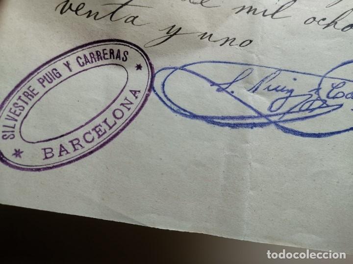 Documentos bancarios: PAGARE ENDOSABLE BARCELONA 1891 MANUSCRITO--9000 PTAS - Foto 4 - 178858018
