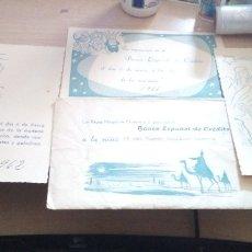 Documentos bancarios: LOTE DE 3 INVITACIONES Y SOBRE PARA ASISTIR A LOS REYES MAGOS DEL BANCO ESPAÑOL CREIDITO 1961-2. Lote 179070400