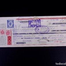 Documents bancaires: BOSQUED Y CIA. ZARAGOZA 1946. LETRA DE CAMBIO. Lote 179148986